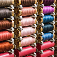 Photo of spools of colored thread