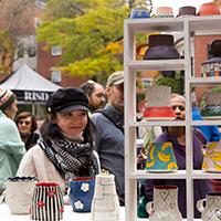 Photo of shopper at RISD Craft